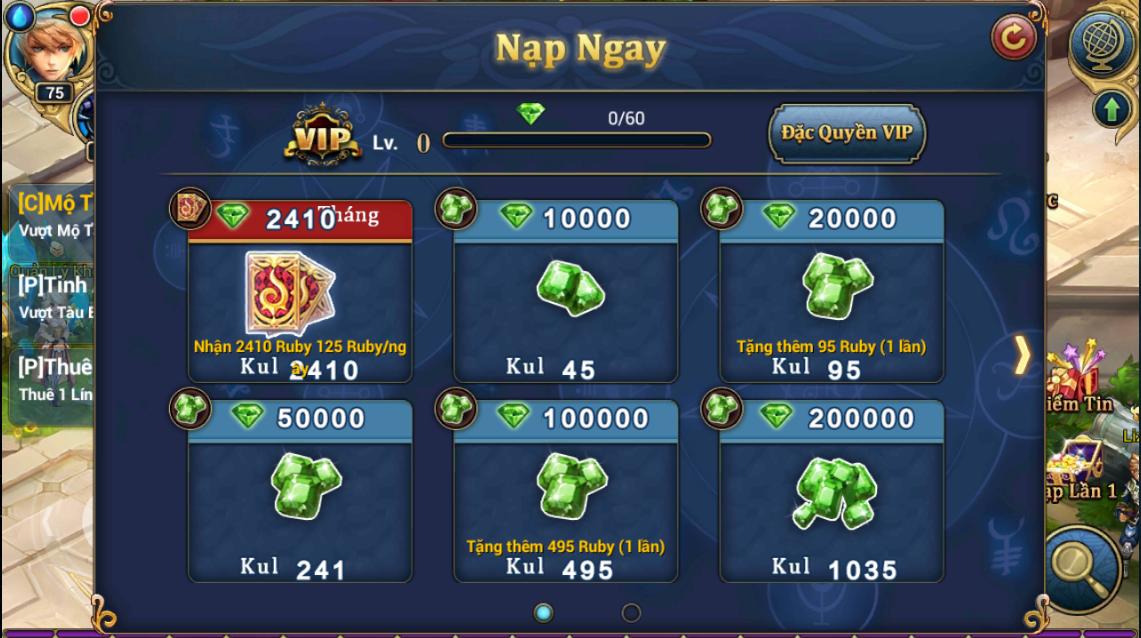 King Online - Tìm hiểu tính năng KNB - Ruby miễn phí 8