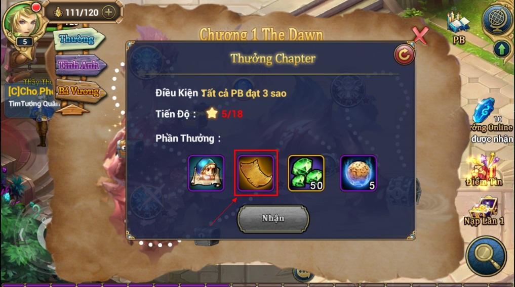 King Online - Tìm hiểu tính năng Kỹ năng 6