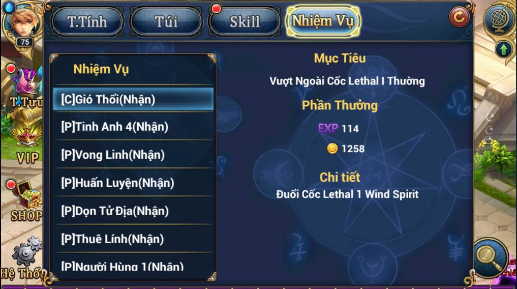 King Online - Tìm hiểu tính năng nhiệm vụ ingame 3
