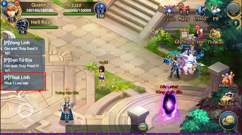 King Online - Tìm hiểu tính năng nhiệm vụ ingame 4