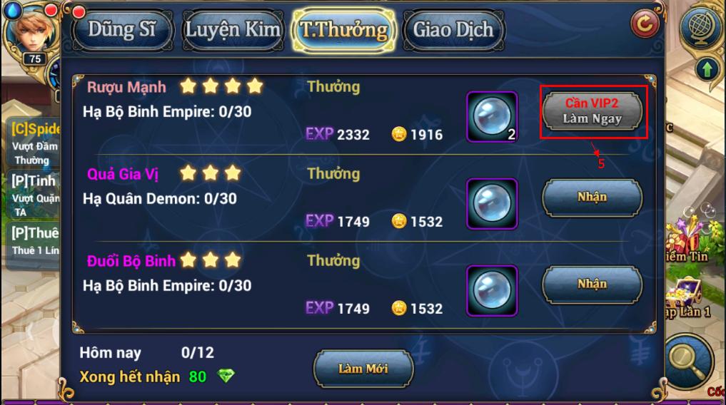 King Online - Tìm hiểu tính năng nhiệm vụ ingame 9