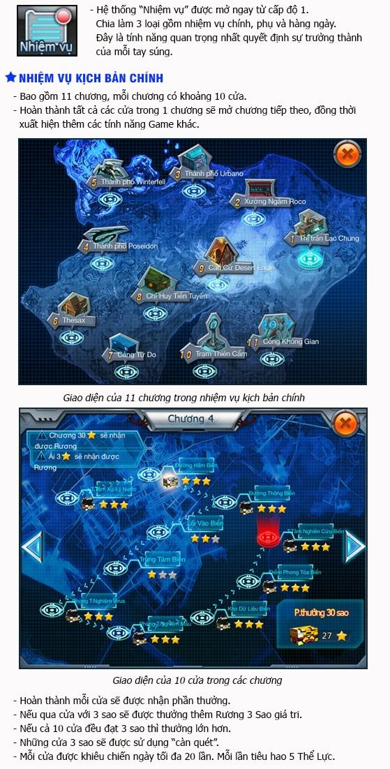 Zombie War - Tìm hiểu tính năng Nhiệm vụ 0