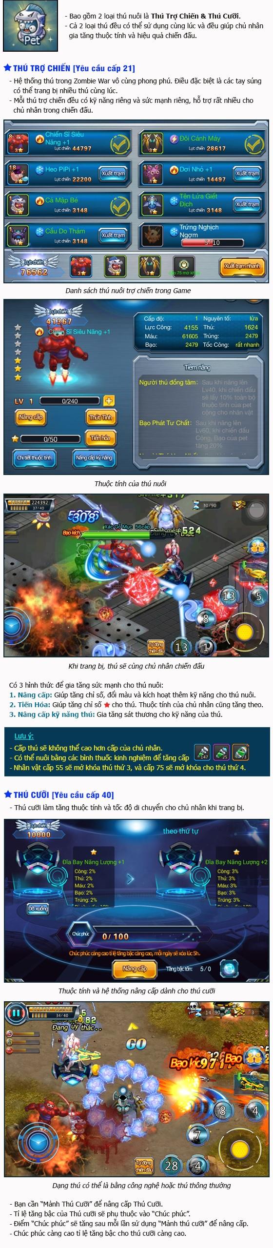 Zombie War - Tìm hiểu tính năng Pet 0