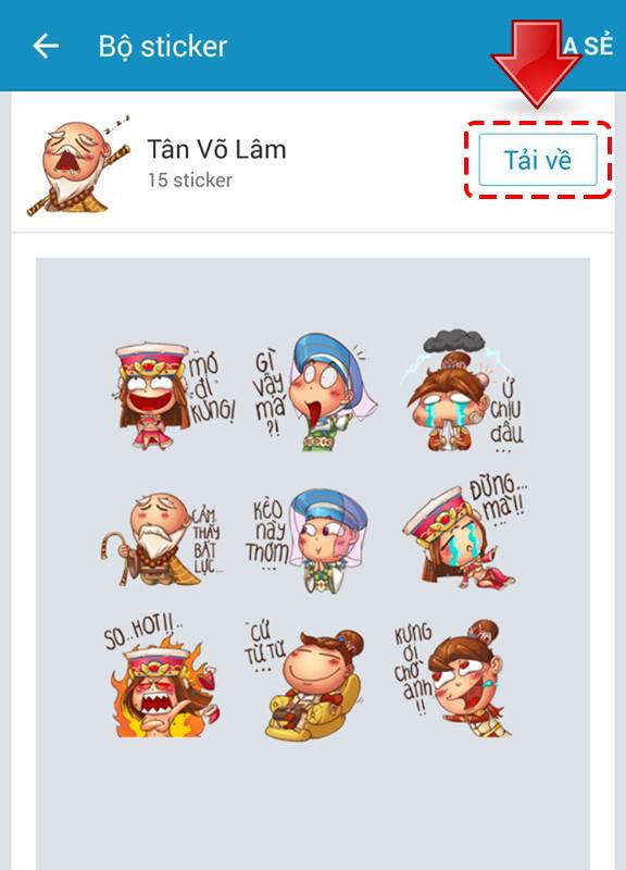 Mạng xã hội ngập tràn hình ảnh bộ sticker Tân Võ Lâm 2