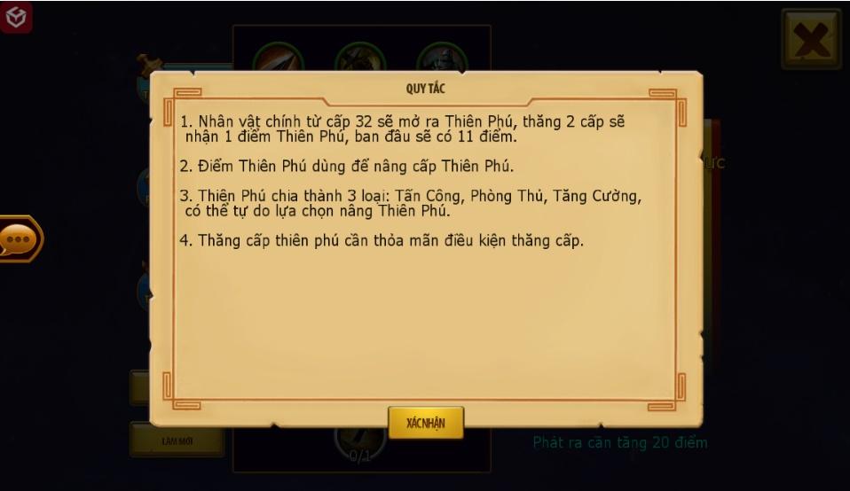 Thiếu Niên Tam Quốc - Tìm hiểu tính năng Thiên Phú 2
