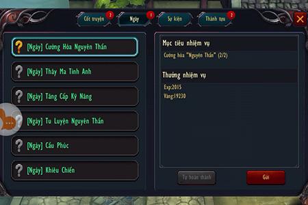 Chiến Thiên Tích - Tìm hiểu tính năng Nhiệm vụ 2
