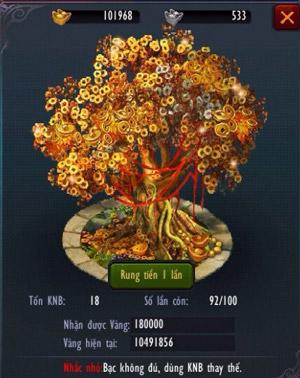 Chiến Thiên Tích - Tìm hiểu tính năng Rung cây tiền 2