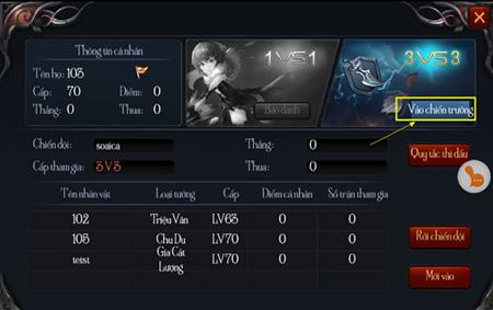 Chiến Thiên Tích - Tìm hiểu tính năng Thi Đấu Cặp 7