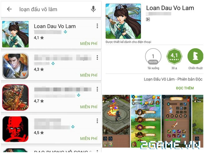 Chưa ra mắt, game Việt Loạn Đấu Võ Lâm đã bị giả mạo trắng trợn 1