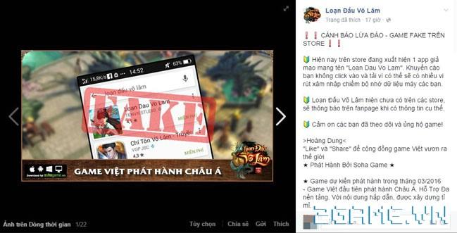 Chưa ra mắt, game Việt Loạn Đấu Võ Lâm đã bị giả mạo trắng trợn 3