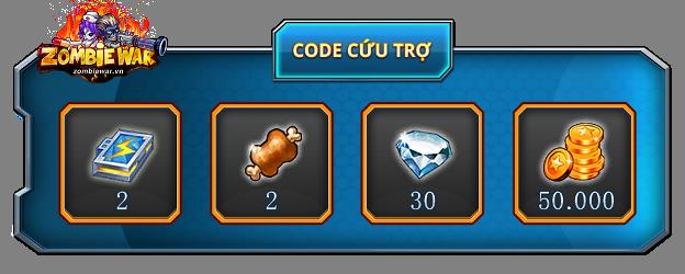 Tặng 210 giftcode game Zombie War 1