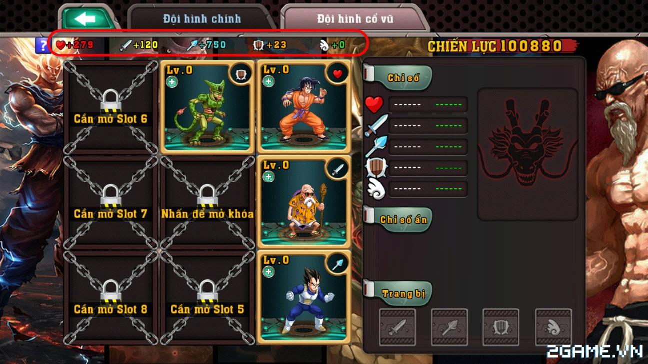 Ngọc Rồng Đại Chiến- Hướng dẫn sắp xếp đội hình 3