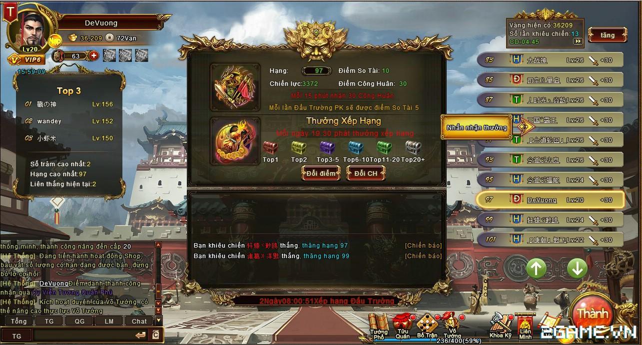 Trải nghiệm web game online Đế Vương Bá Nghiệp trước ngày ra mắt 4