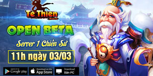 Tặng 310 giftcode game Tề Thiên Mobile