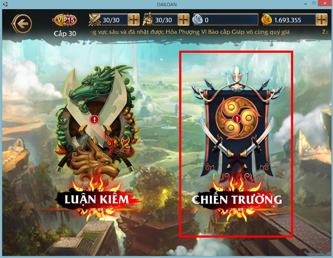 Loạn Đấu Võ Lâm - Tìm hiểu tính năng Chiến Trường thú vị 1
