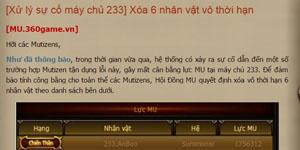 MU Huyền Thoại – Bi hài chuyện một game thủ Việt bị NPH xóa nhân vật vì… quá mạnh