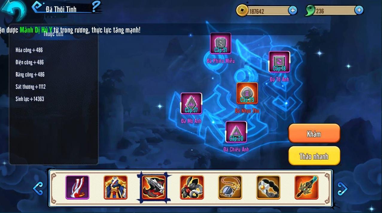 Hoa Thiên Cốt VNG - Tìm hiểu hệ thống Thôi Tinh Thạch 1