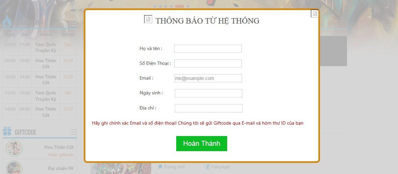 Webgame Hoa Thiên Cốt - Ngàn code khủng tặng game thủ 3