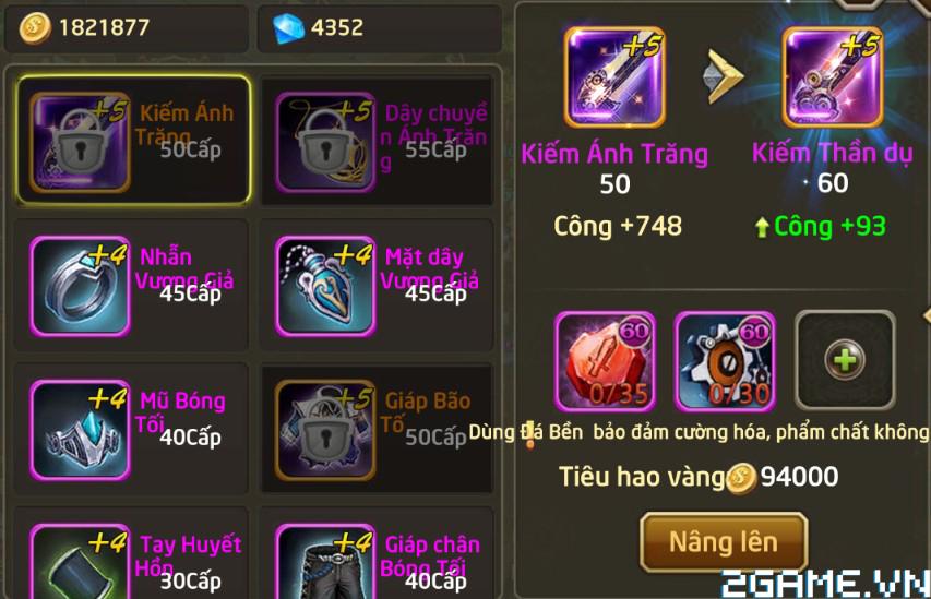 Fantasy GO - Tìm hiểu Trang bị nhân vật trong game 3