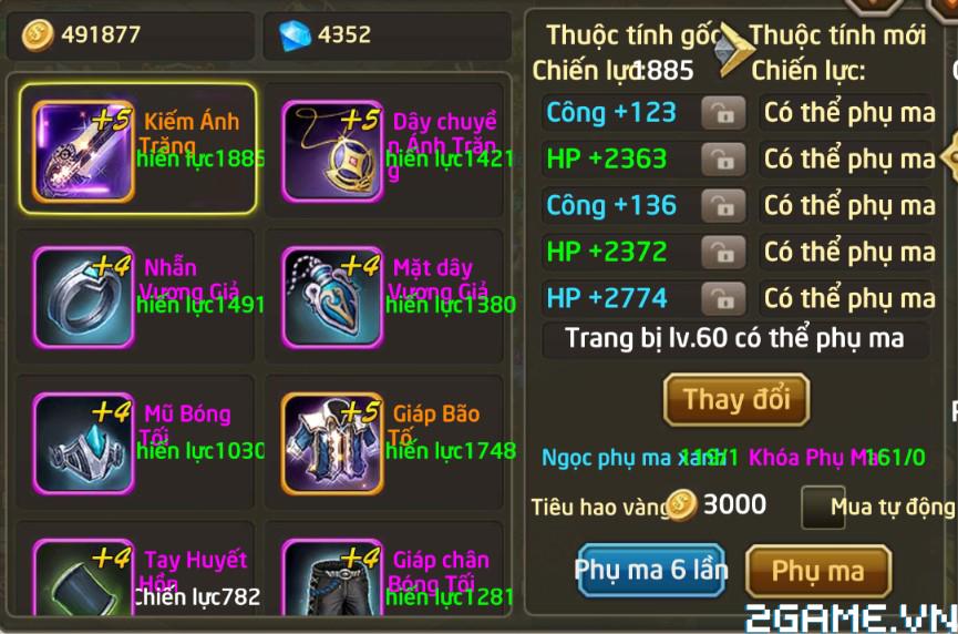 Fantasy GO - Tìm hiểu Trang bị nhân vật trong game 5