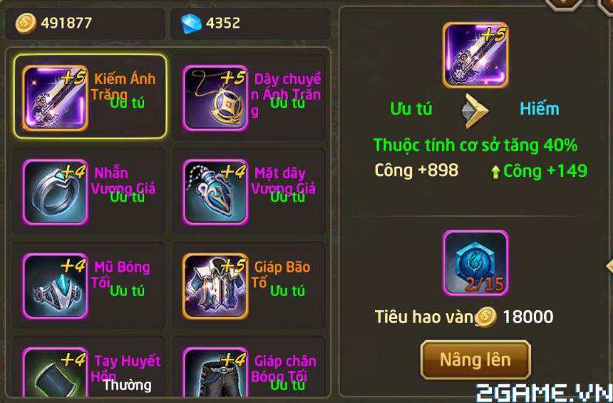 Fantasy GO - Tìm hiểu Trang bị nhân vật trong game 6