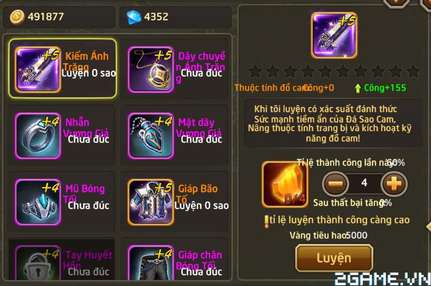 Fantasy GO - Tìm hiểu Trang bị nhân vật trong game 7