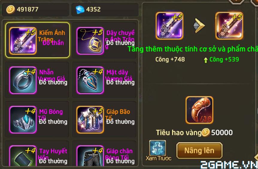 Fantasy GO – Tìm hiểu Trang bị nhân vật trong game