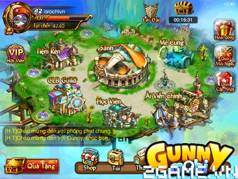 Gunny Mobi - Tìm hiểu Giao diện trò chơi 0