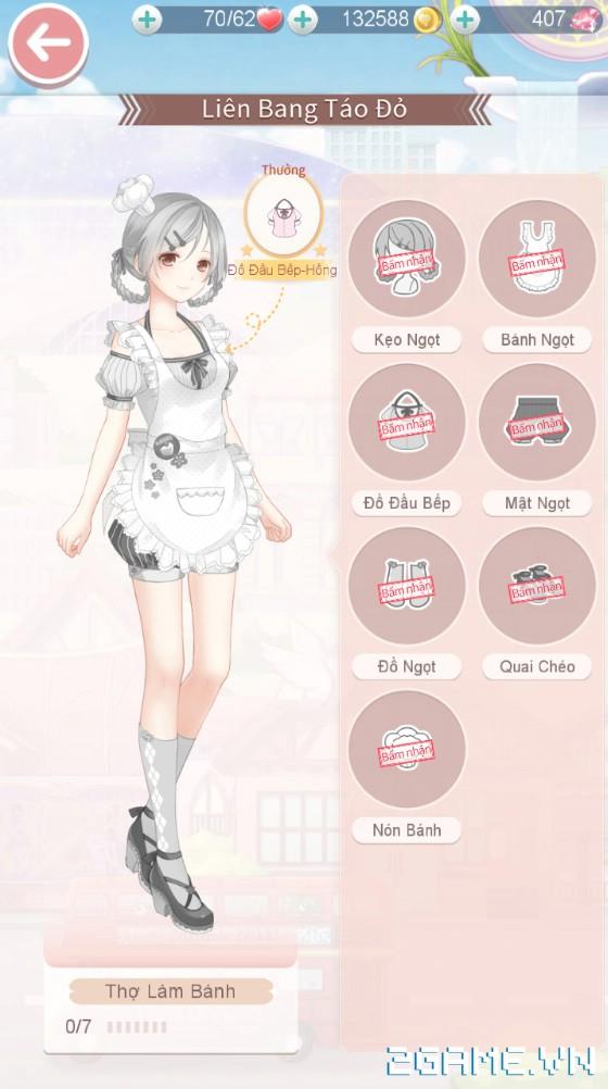 Ngôi Sao Thời Trang - Hướng dẫn cách nhận bộ thời trang Thợ Làm Bánh 4