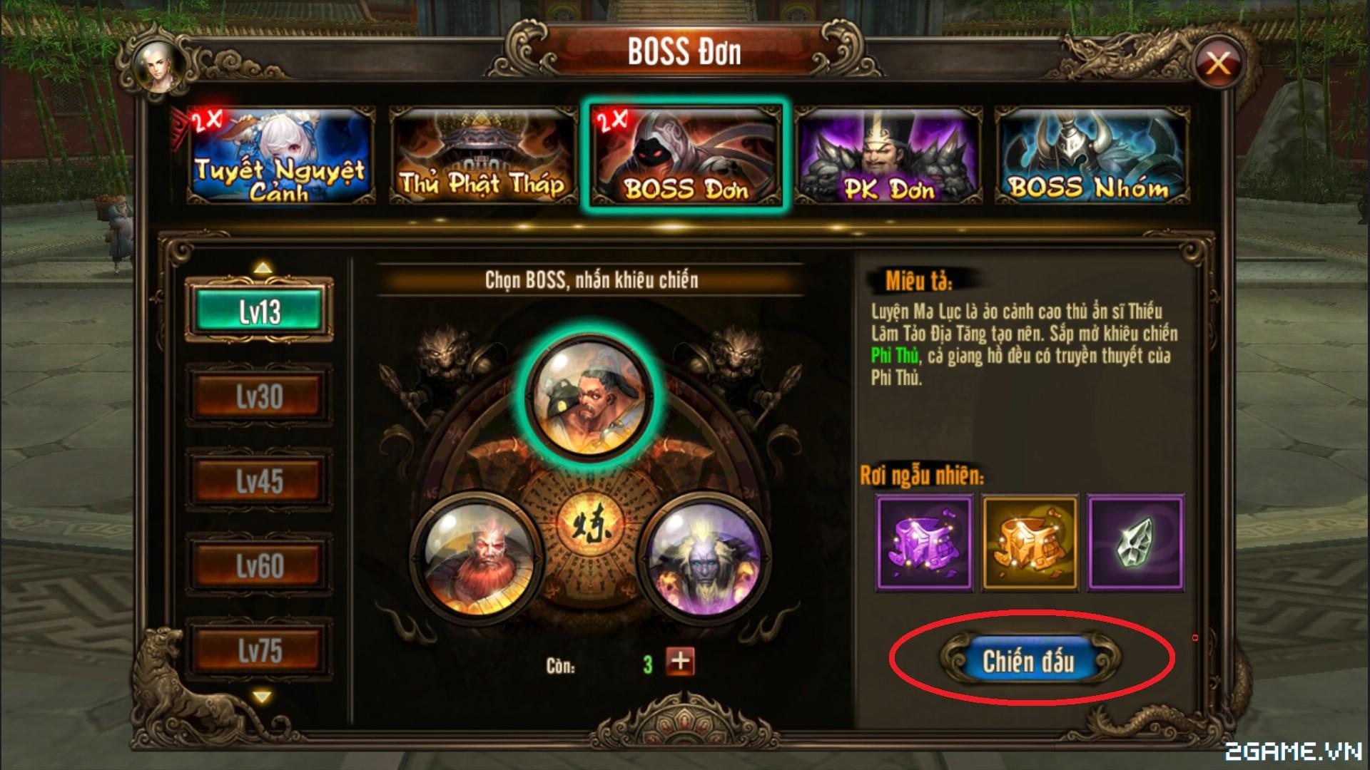 Kungfu Chi Vương - Tìm hiểu Boss Đơn 2