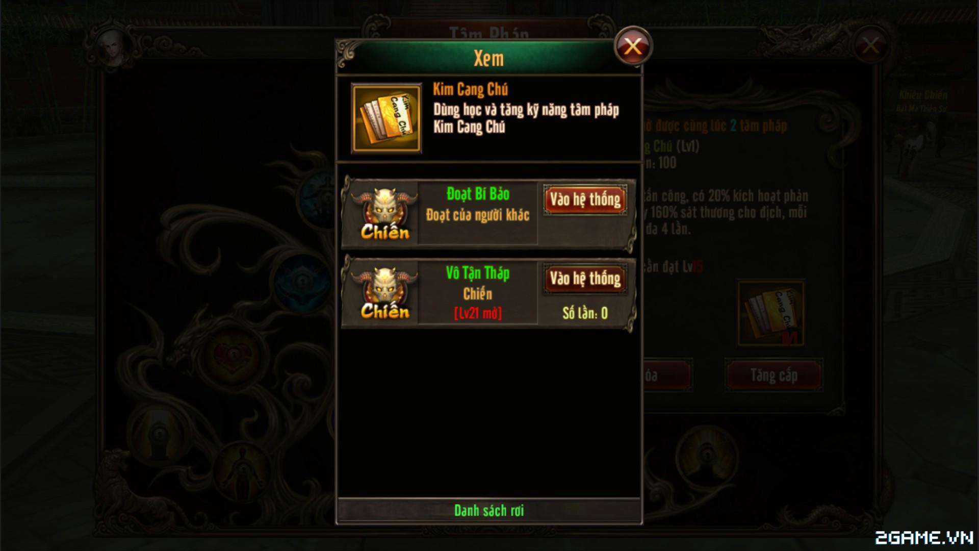 Kungfu Chi Vương - Tìm hiểu Hệ thống Tâm pháp 4