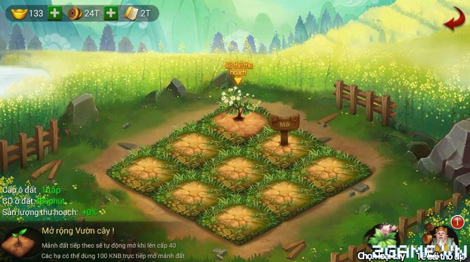 Chân Long mobile – Tìm hiểu hoạt động vườn cây