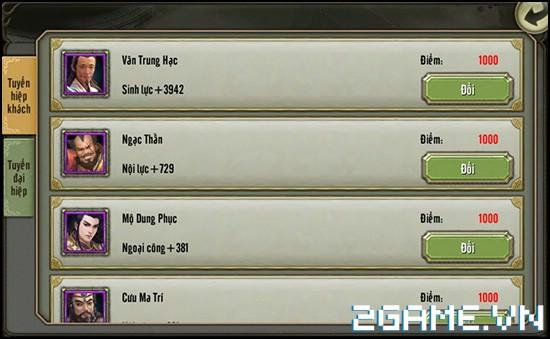 Thiên Long Bát Bộ 3D mobile - Tìm hiểu Hệ thống Hiệp Khách 4
