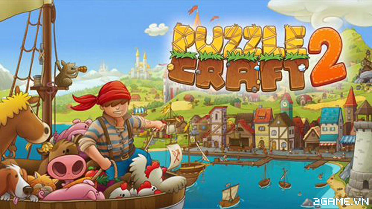 Puzzle Craft 2 - Trải nghiệm hành trình Robinson trên đảo hoang 0