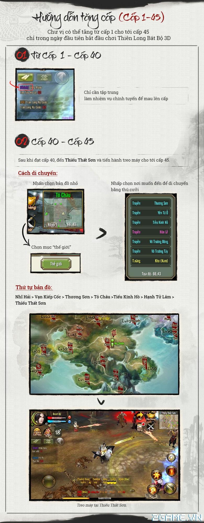 Thiên Long Bát Bộ 3D mobile - Tìm hiểu Cách tăng cấp 1 - 45 0