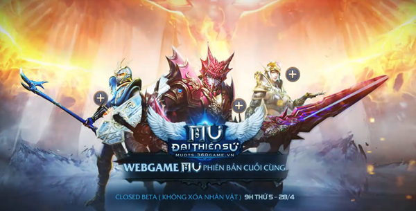 Webgame MU Đại Thiên Sứ bung trang chủ, ấn định ngày mở game vào 28/04 3