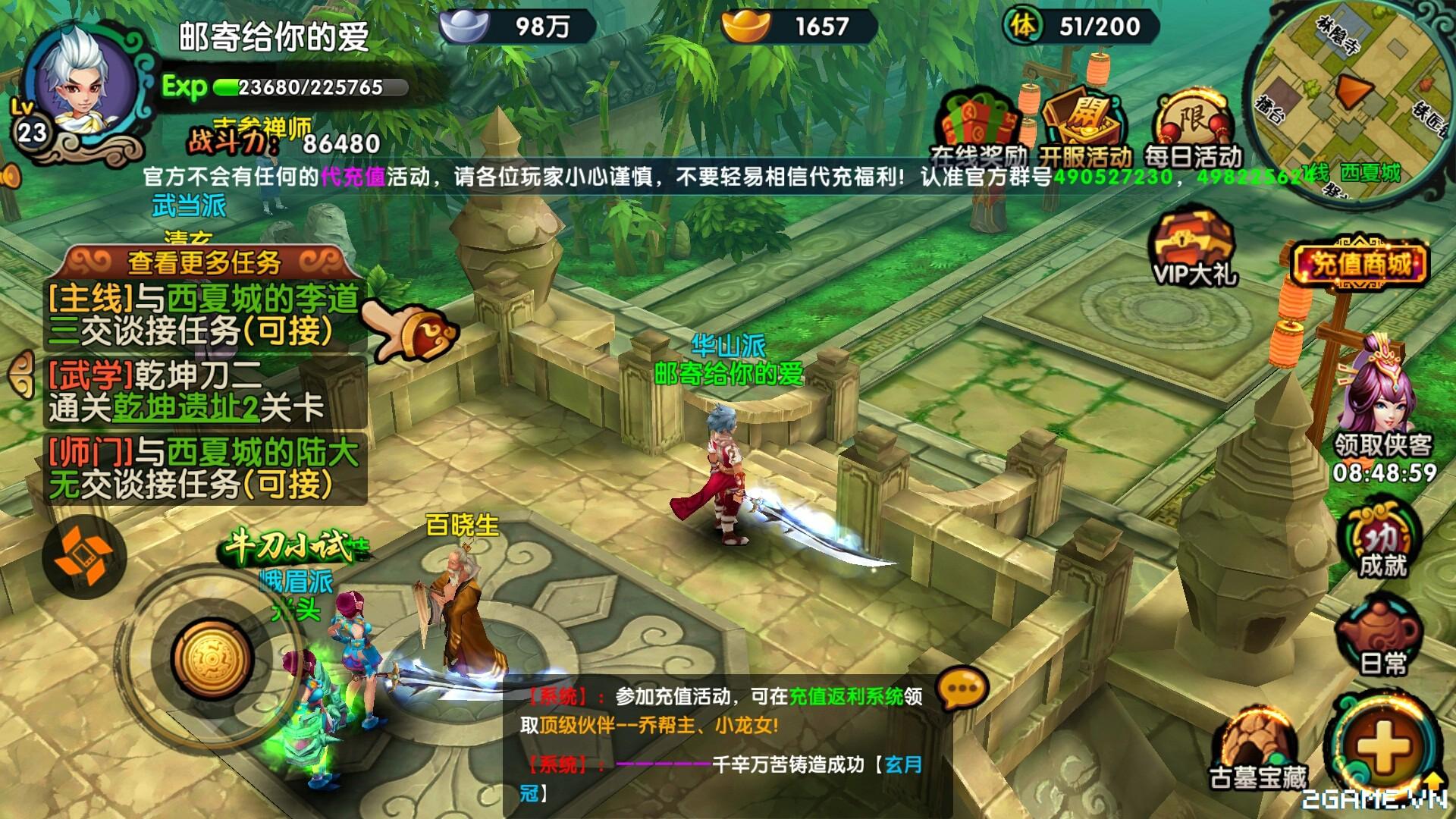 Game mobile Kiếm Khách Truyện cập bến Việt Nam 3