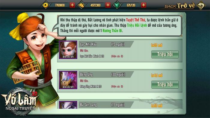 Võ Lâm Ngoại Truyện Mobile - Điểm danh loạt update tháng 5 sắp ra mắt 3