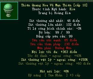 Trang bị Hoàng Kim môn phái bất ngờ tái xuất trong Võ Lâm Truyền Kỳ Công Thành Chiến 0