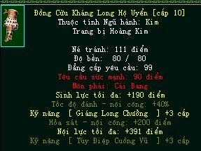 Trang bị Hoàng Kim môn phái bất ngờ tái xuất trong Võ Lâm Truyền Kỳ Công Thành Chiến 2
