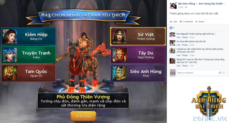 Anh Hùng Đại Chiến lộ diện hình ảnh vị tướng Việt Thánh Gióng đẹp