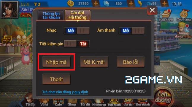 Quyền Vương 98 tặng giftcode cho game thủ 2Game 3