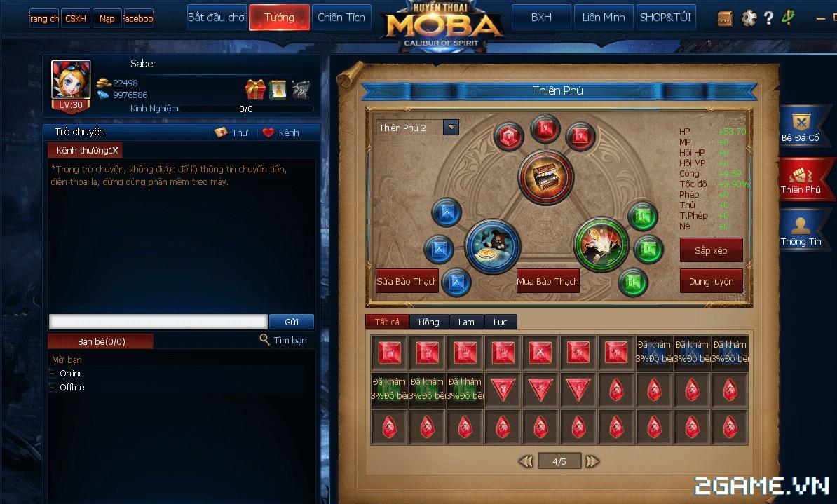 Huyền Thoại MOBA - Những điều bạn chưa biết về tính năng Thiên Phú 0