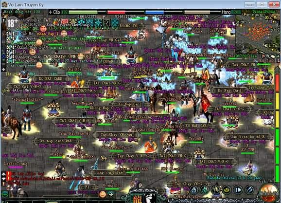 Cả nghìn game thủ Võ Lâm Truyền Kỳ đang ngồi treo máy giữa thành vì bức xúc 0