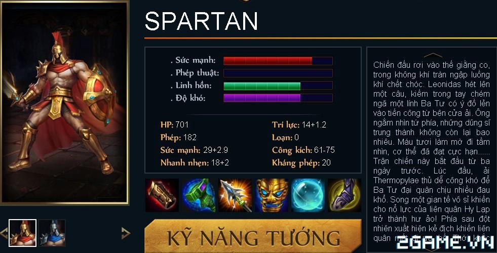 Huyền Thoại MOBA - Tiêu điểm tướng Spartan 0