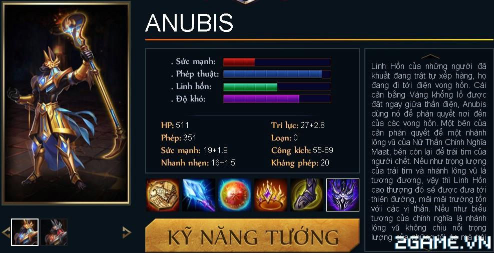 Huyền Thoại MOBA - Tiêu điểm tướng Anubis 0