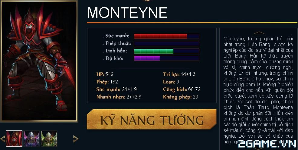 Huyền Thoại MOBA - Tiêu điểm tướng Monteyne 0