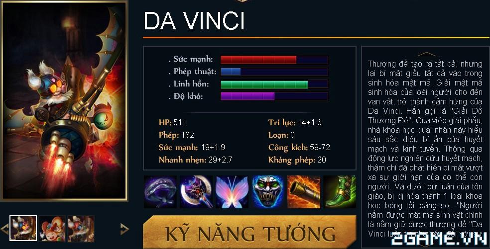 Huyền Thoại MOBA - Tiêu điểm tướng Da Vinci 0