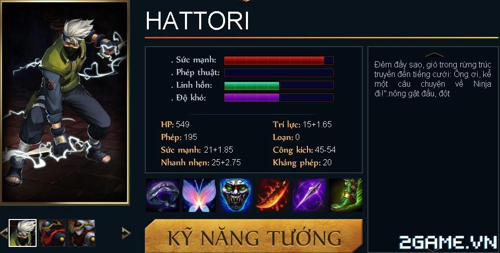 Huyền Thoại MOBA - Tiêu điểm tướng Hattori 0