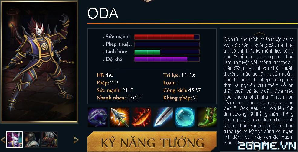 Huyền Thoại MOBA - Tiêu điểm tướng Oda 0